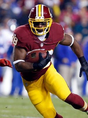 Pierre Garcon had nine catches for 61 yards against the Giants.