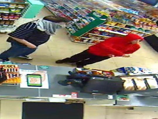 Police seek help to identify two suspects in the robbery of a 7-Eleven store in Voorhees.