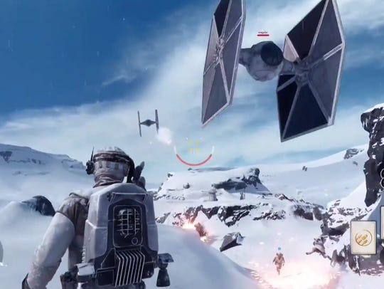 "This screenshot shows a scene from ""Star Wars: Battlefront."""