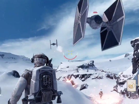 """This screenshot shows a scene from """"Star Wars: Battlefront."""""""