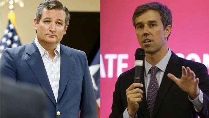 Ted Cruz and Beto O'Rourke U.S. Senate race 'too close to call', Quinnipiac poll says