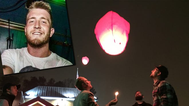Hundreds gathered outside Texas Roadhouse on Wade Hampton Boulevard in Greenville Sunday, Dec. 28, to remember the 22-year-old Simpsonville man who died over the weekend in a deadly crash involving a Highway Patrol vehicle.