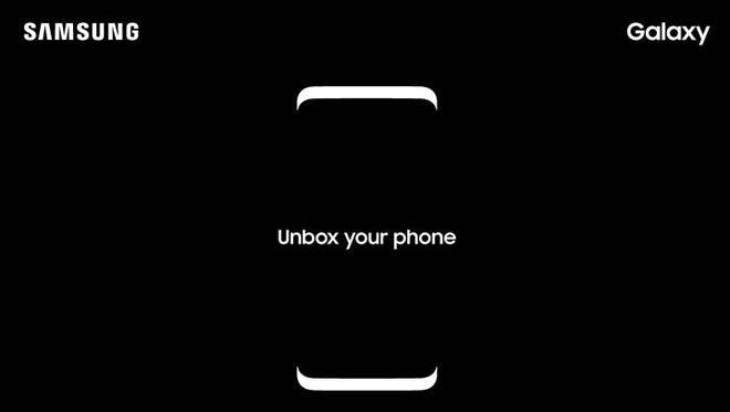A screenshot of the invite for Samsung's Galaxy S8 event.