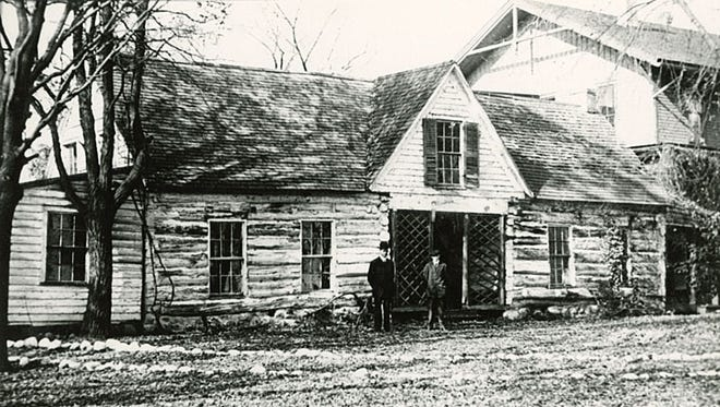 Doty Cabin was originally constructed in 1845 as the home of Governor James Doty. It is shown here at its original site. It was moved and restored in 1948.