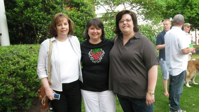 Pamela Janeice Frisbee, center, at the Strawberry Festival in Humboldt in 2010.