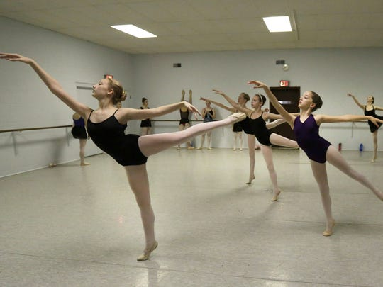 Members of the Appleton-based Makaroff Youth Ballet rehearse for their upcoming holiday concert.