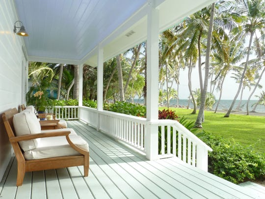 The Moorings Village porch, Islamorada