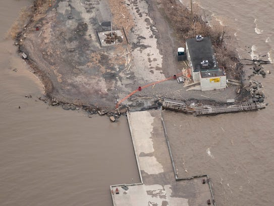 This aerial photo taken after the March 2 nor'easter