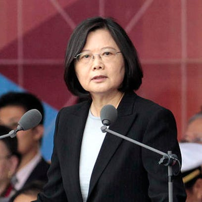 FILE - In this Oct. 10, 2016, file photo, Taiwan's