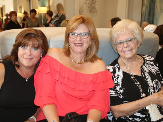 Tracy Pecho, left, Wendy Maxwell and Betty Maxwell