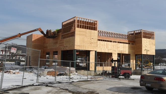 A view of the upcoming Chipotle currently under construction off of Route 9 in Fishkill.