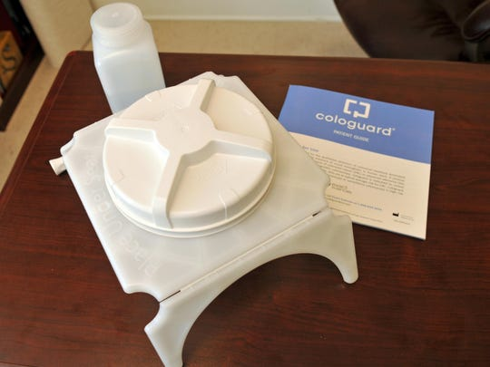 Dr. Sue Mitra's office uses Cologuard, which is a noninvasive