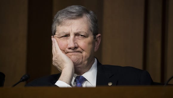 Sen. John Kennedy, a Louisiana Republican, didn't get very good answers from federal district court nominee Matthew Petersen Wednesday.