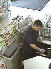 This man was armed with a knife when he robbed a store on East Alisal Street Thursday night.