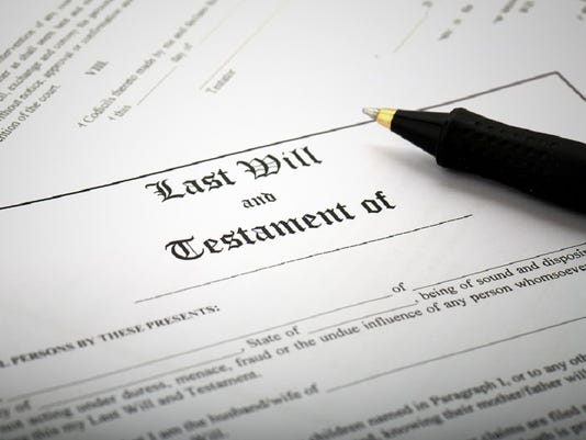 Signing Last Will & Testament