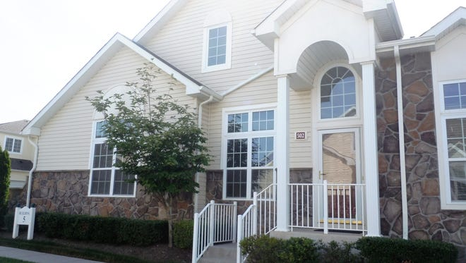 This two-bedroom home has a gourmet kitchen, a great room and a first floor master suite.