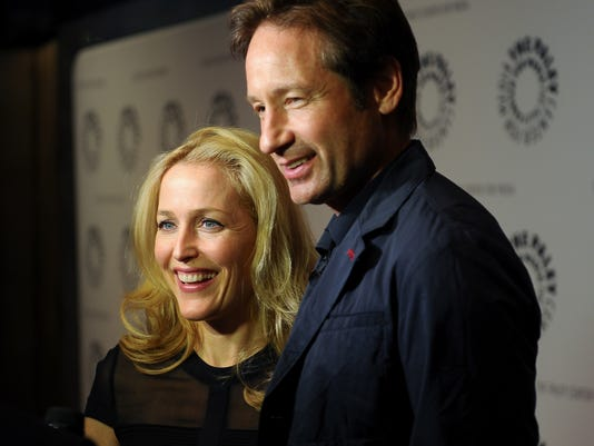 Gillian Anderson And David Duchovny Attend The Truth Is Here On X Files At Paley Center For Media Oct 12