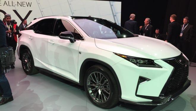 2016 Lexus RX luxury crossover.