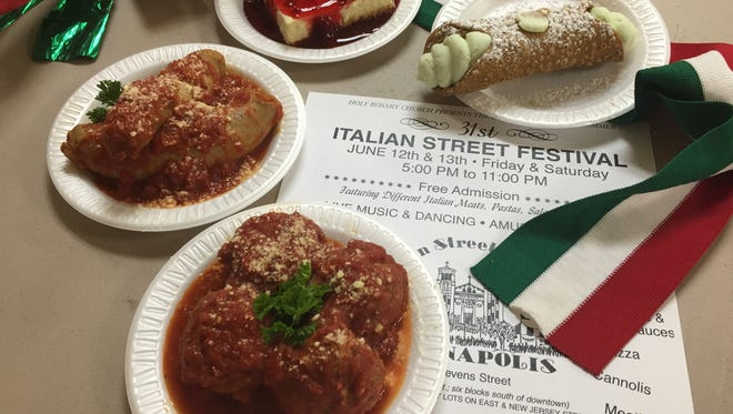 Most people come to the Italian Street Festival for the food, especially meatballs and cannoli, although cheesecake, fried ravioli, pasta alfredo, pizza, spaghetti, tiramisu and hero sandwiches filled with sausage and peppers are also on the menu.