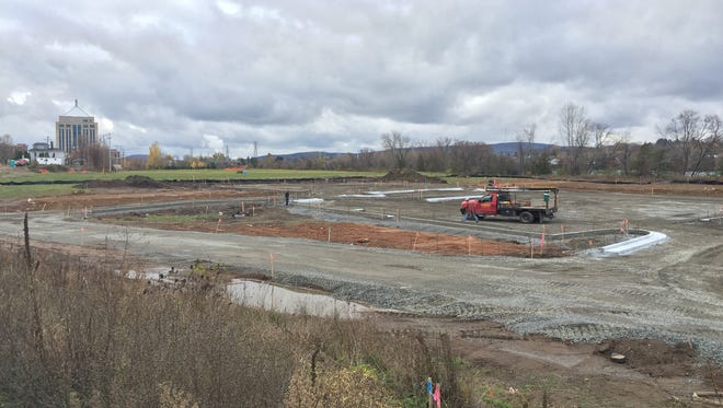 Pictured above is where the parking lot for riverfront entertainment complex, Wausau on Water, is expected to be located. WOW will be located just to the north of this site.
