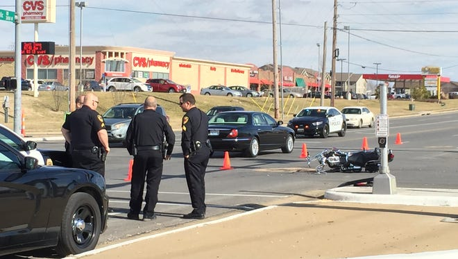 Police say a man died Monday as a result of injuries he suffered in a motorcycle crash on Sunday afternoon.