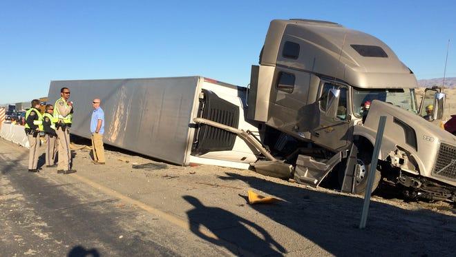Big rig crash Tuesday on eastbound I-10