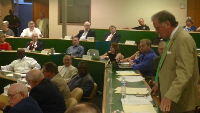 Madison County Mayor Jimmy Harris addresses the commission Monday morning.