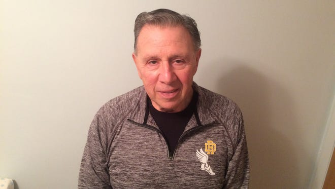 River Dell indoor track weights coach Lou Sirignano is The Record Girls Indoor Track Coach of the Year.