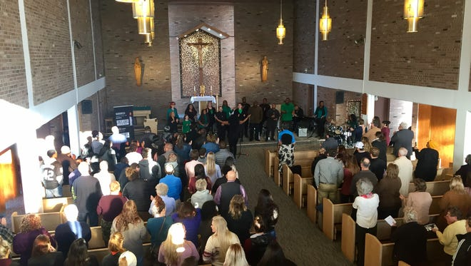 Powerful music and powerful speeches brought the audience at the Martin Luther King Jr. Day celebration to its feet over and over at the University of Providence.