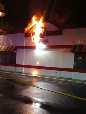 The Arlington Fire District Thursday night responded to a blaze at Planet Wings on Dutchess Turnpike.