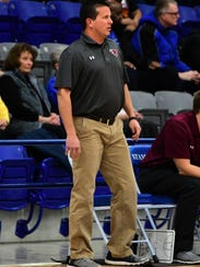 Hawley boys basketball coach Mitch Ables directs his