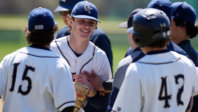 NV/Old Tappan first baseman/pitcher James Steindl (facing) is a player to watch.