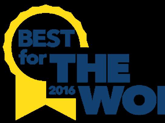 B Corporation 2016 Best for The World logo