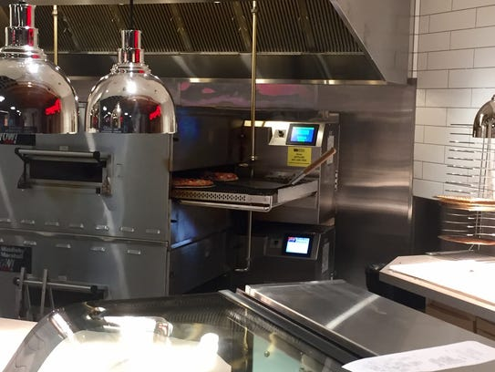 Made-to-order pies are cooked in about three minutes
