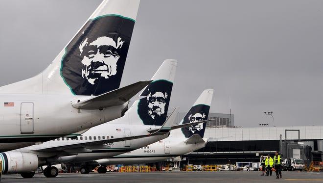 Alaska Airlines planes.