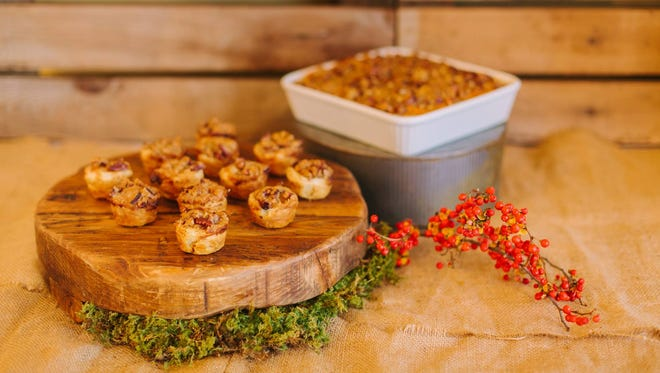For a holiday party, choose small nibbles like these Sweet Potato Bites that can be easily picked up as guests graze past the food, which speeds up the process and encourages guests to keep mixing and mingling.