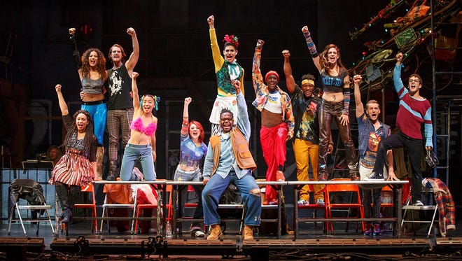 "The touring 20th anniversary production of ""Rent"" stops at The Playhouse on Rodney Square in Wilmington this weekend."