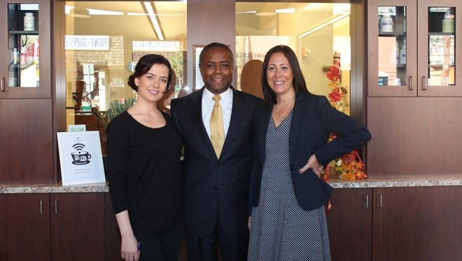 Unity Bank of Clinton has provided Davis Integrated Medicine a $777,000 Small Business Administration loan to finance the recent opening of the practice's new offices. Pictured from left are the practice's Director of First Impressions Ratiba Lazizi, Director Alfred Davis Jr., and Debbie Godt, Unity Bank vice president and SBA business development manager.