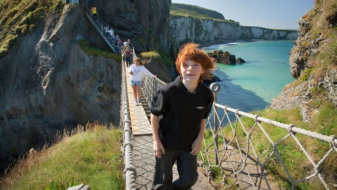 Get your ticket to cross Northern Ireland's ramshackle Carrick-a-Rede Rope Bridge first thing in the morning, before the cruise groups — and the wind — take over.