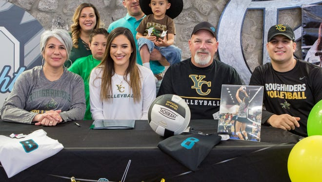 Oñate's Pilar Daugherty signed to play volleyball for Yavapai College in Prescott, Arizona on Monday.