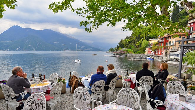 The town of Varenna on Lake Como is the perfect place to savor a lakeside meal or aperitivo.