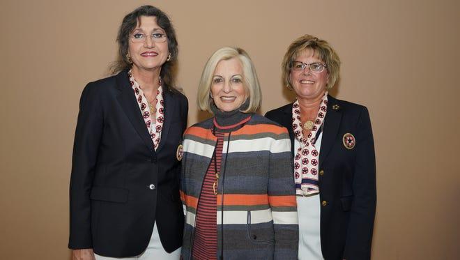 Eisenhower Auxiliary president Eileen Eske, honoree Helene Galen and Concert Committee Chair Sandra Schultz