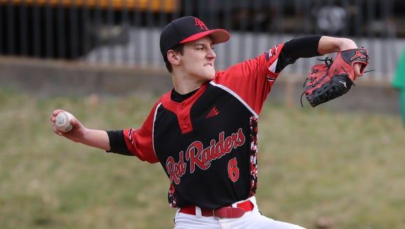 Alexander Hamilton freshman pitcher Tyler Field, who
