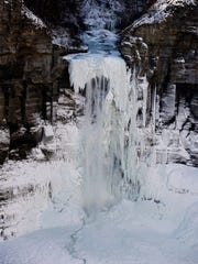 Taughannock Falls State Park in Tompkins County on Wednesday, January 3, 2018.