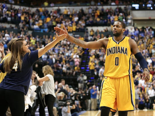 C.J. Miles made fans with his hot shooting in the season's second half.