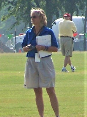 Susan Williamson at a USYSA Youth Regional Soccer Tournament in Arkansas.
