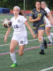 Madison Salzenstein (10), one of 13 freshman on DCD's