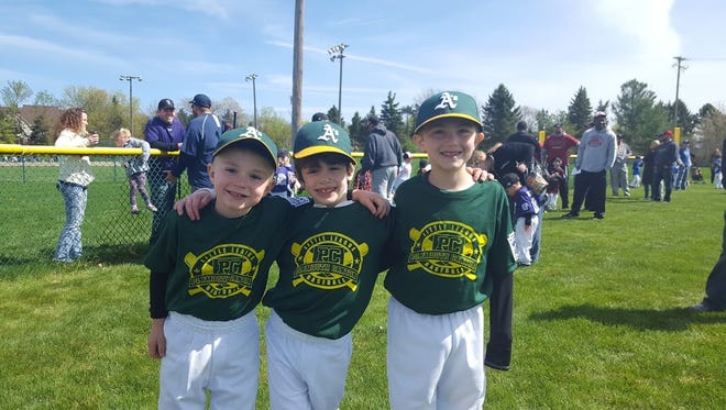 Smiling faces were everywhere Saturday at McClumpha Park in Plymouth as the 2017 season of the Plymouth-Canton Little League got underway.