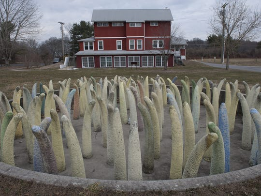 Sculpture on the grounds of the Appel Farm Arts & Music Center in Elmer. Wednesday, March 12, 2014.