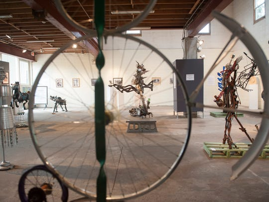 A view of the Found Artist Exhibition at the Perkins Center for the Arts in Collingswood.  08.01.14